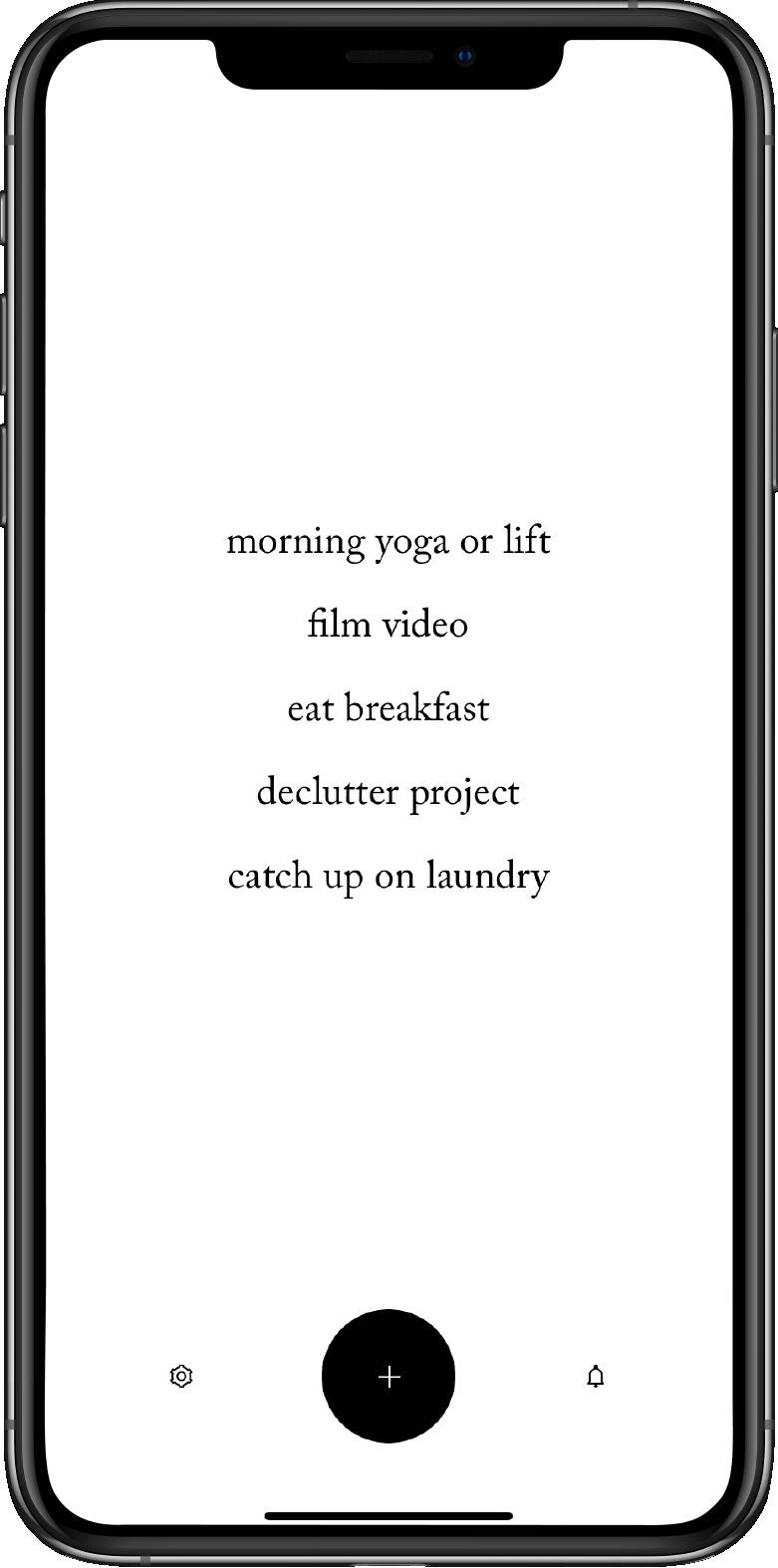 Diem app to do list on iPhone